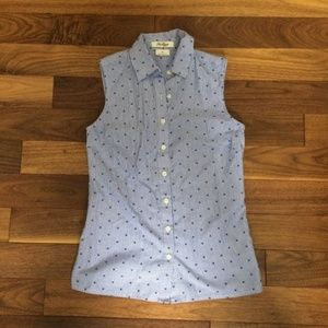 Van Heusen Dotted & Striped Button Down Blouse